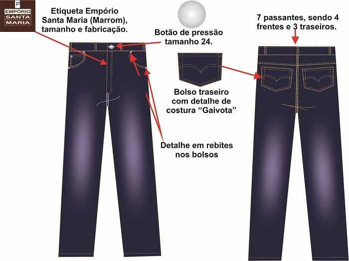 Calça jeans masculina profissional