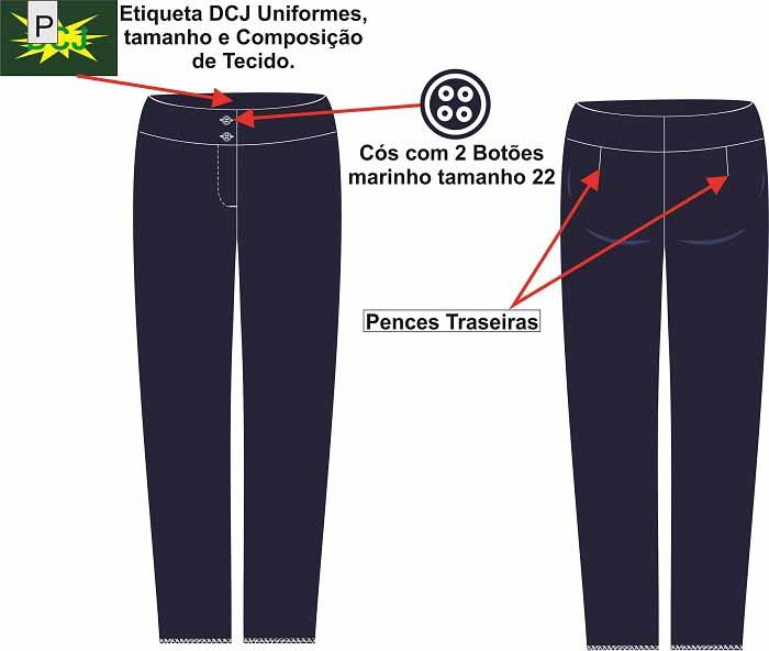 Uniforme calça social feminina