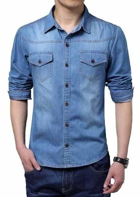 Uniformes profissionais camisa jeans